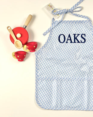 LAMINATED APRON BLUE CHECK