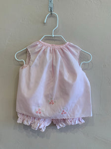 Pink 2PC Diaper Set w/ Flowers