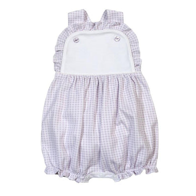 Kayla Purple Gingham Pima Sun Bubble