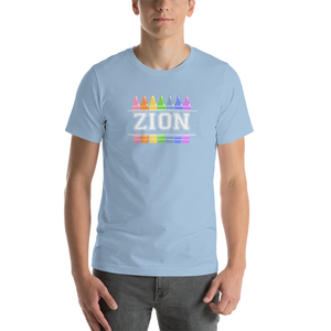Adult Zion Blue Crayon Tee