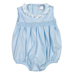 Lulu Blue Hand Smocked Bubble