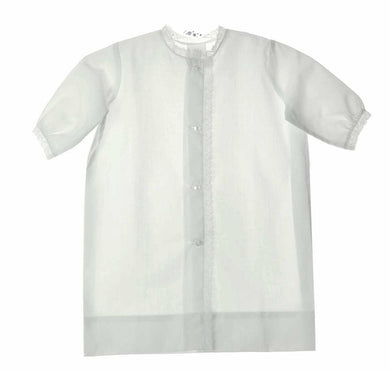 Unisex White with Ecru Daygown