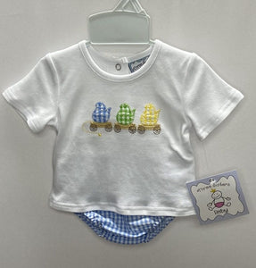 Peeps Applique Boys Diaper Set