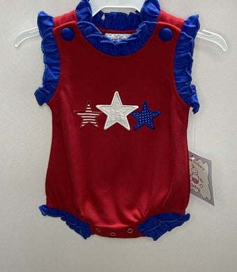 Stars Applique Girls Bubble