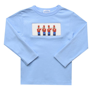 Soldiers Smocked Light Blue Knit Top
