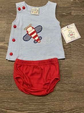 Take Flight Applique Boys Diaper Set