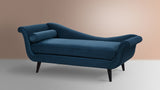 Kai Chaise Lounge, Satin Teal