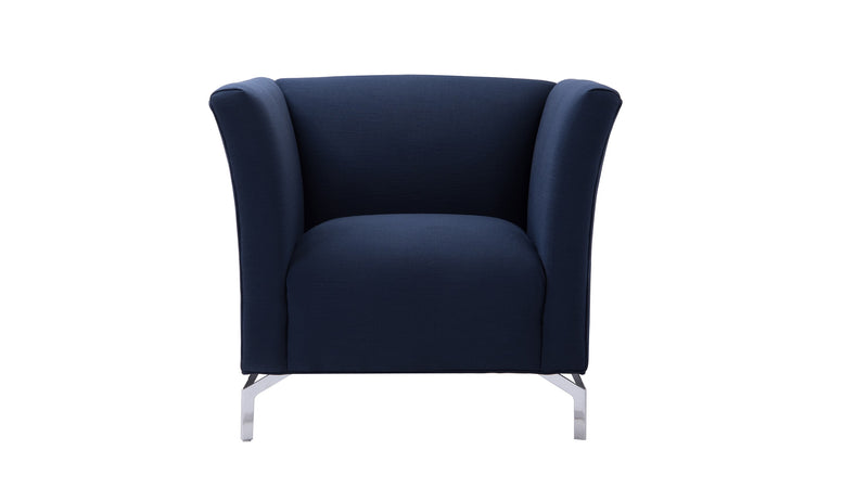 Camilla Mid-Century Modern Chair, Midnight Blue