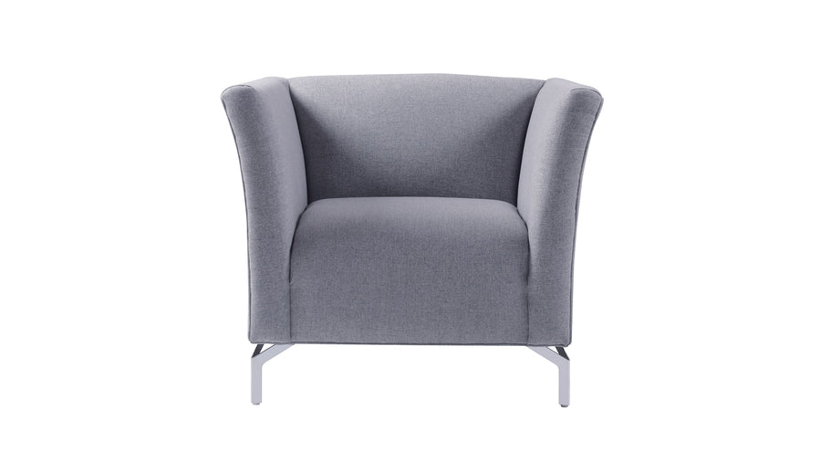 Camilla Mid-Century Modern Chair, Light Grey