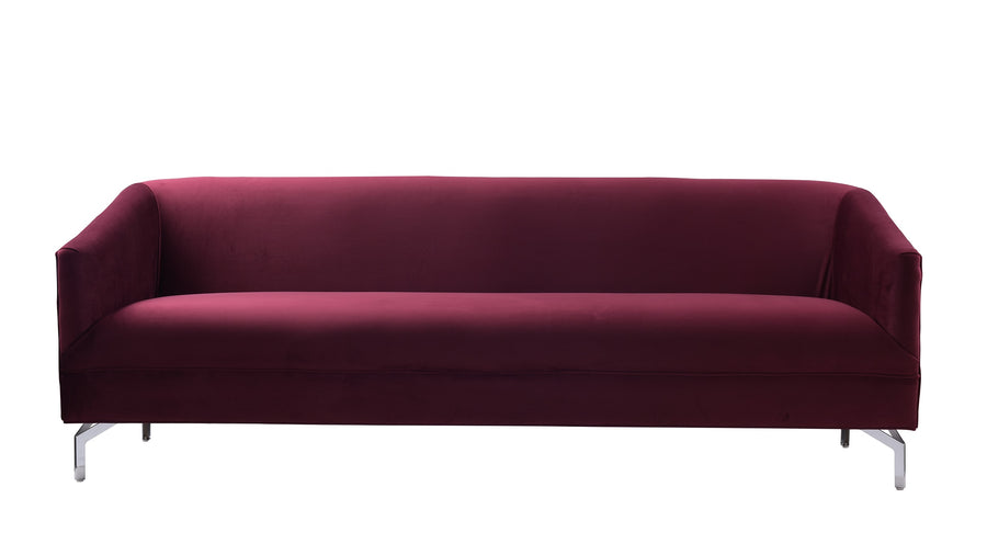 Elaine Tight Back Sofa, Burgundy