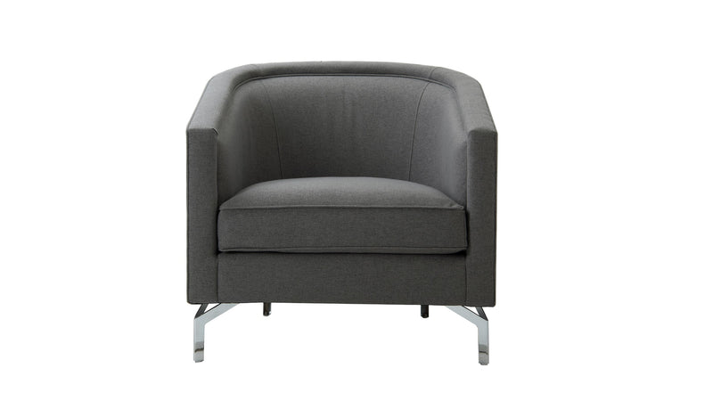 Annette Cabriole Arm Chair, Steeple Grey