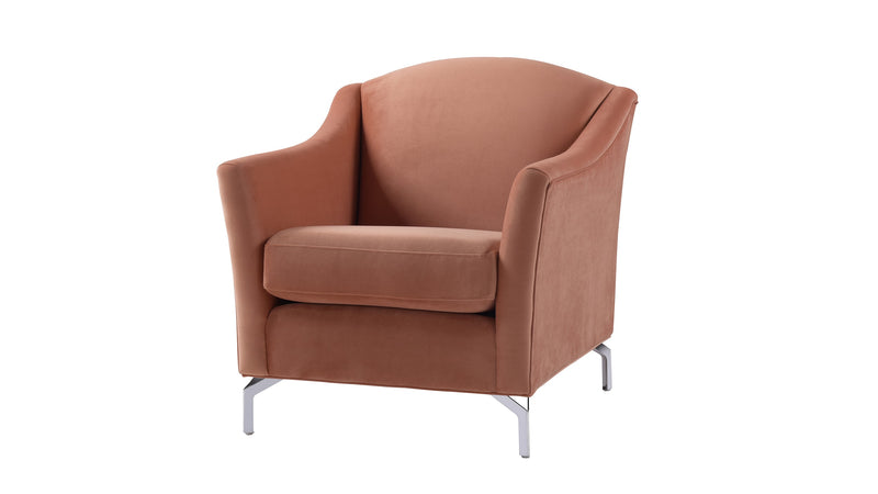 Vincent Camelback Arm Chair, Orange