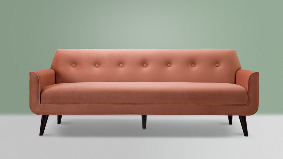 Valencia Tight Back Sofa, Orange
