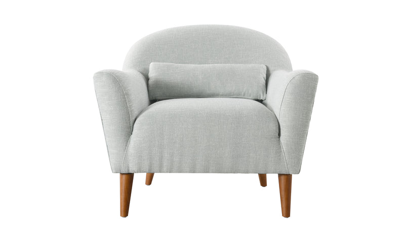 Piper Recessed Arm Chair, Sea foam Green