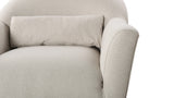 Piper Recessed Arm Chair, Bone White