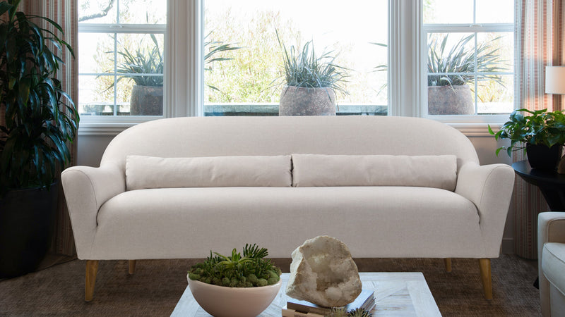 Piper Upholstered Sofa, Bone White
