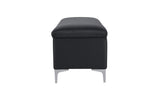 Serina Storage Bench, Dark Grey