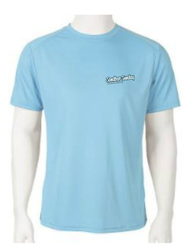 Sandbar Sunday Short Sleeve Performance Tee - Aqua