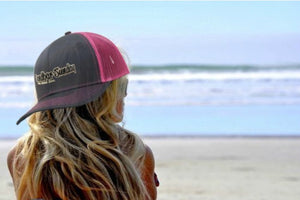 Pro Style Trucker Hat - Pink and Gray