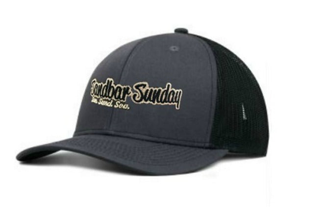 Pro Style Trucker Hat - Black and Gray