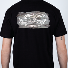 Sandbar Sunday Unisex Premium Fitted Short-Sleeve Crew Tee in Black