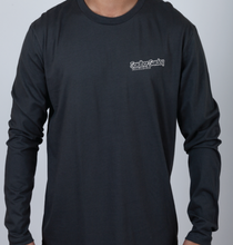 Sandbar Sunday Unisex Premium Fitted Long-Sleeve Crew Tee in Indigo
