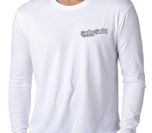Sandbar Sunday Unisex Premium Fitted Long-Sleeve Crew Tee in White