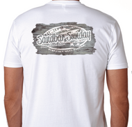 Sandbar Sunday Unisex Premium Fitted Short-Sleeve Crew Tee in White