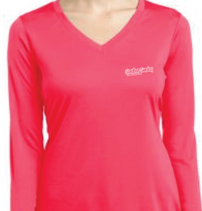 Sandbar Sunday (S.I.) Sport-Tek Ladies Long Sleeve Competitor in Hot Pink- Sebastian Inlet, Fl