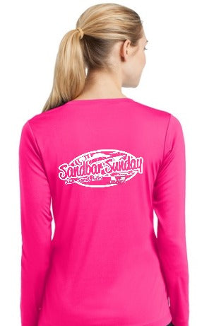Sandbar Sunday Sport-Tek Ladies Long Sleeve Competitor in Hot Pink