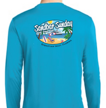 Sandbar Sunday Sport-Tek Mens Long Sleeve Competitor in Atomic Blue