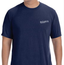 Sandbar Sunday (S.I.) Men's Short Sleeve Performance Tee in Navy/Sebastian Inlet