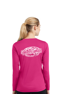Sandbar Sunday (S.I.) Sport-Tek Ladies Long Sleeve Competitor in Raspberry- Sebastian Inlet, Fl