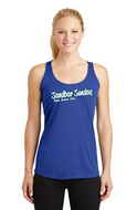 Ladies Competitor Racerback Tank in Patriotic Blue