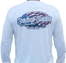 Sandbar Sunday (S.I.) Adult Stars and Stripes Performance Shirt - Sebastian Inlet