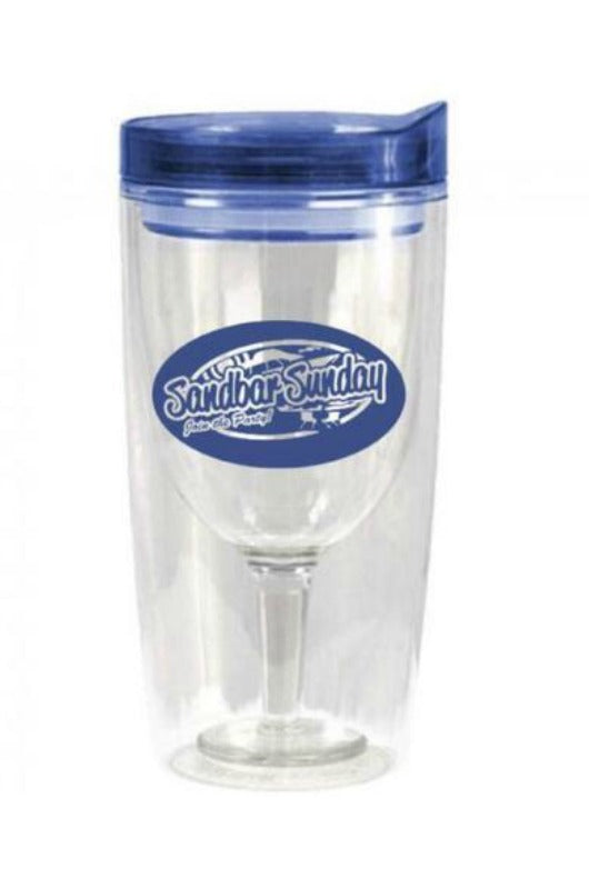 Sandbar Sunday Wine Tumbler 10oz