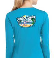 Sandbar Sunday Sport-Tek Ladies Long Sleeve Competitor in Atomic Blue