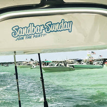 Sandbar Sunday Die Cut Vinyl Decal