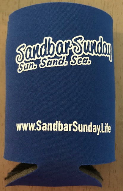 Sandbar Sunday Collapsible Koozie - Blue