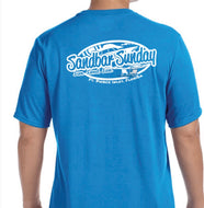 Sandbar Sunday (F.P.I.) Men's Short Sleeve Performance Tee in Sapphire/Ft.Pierce