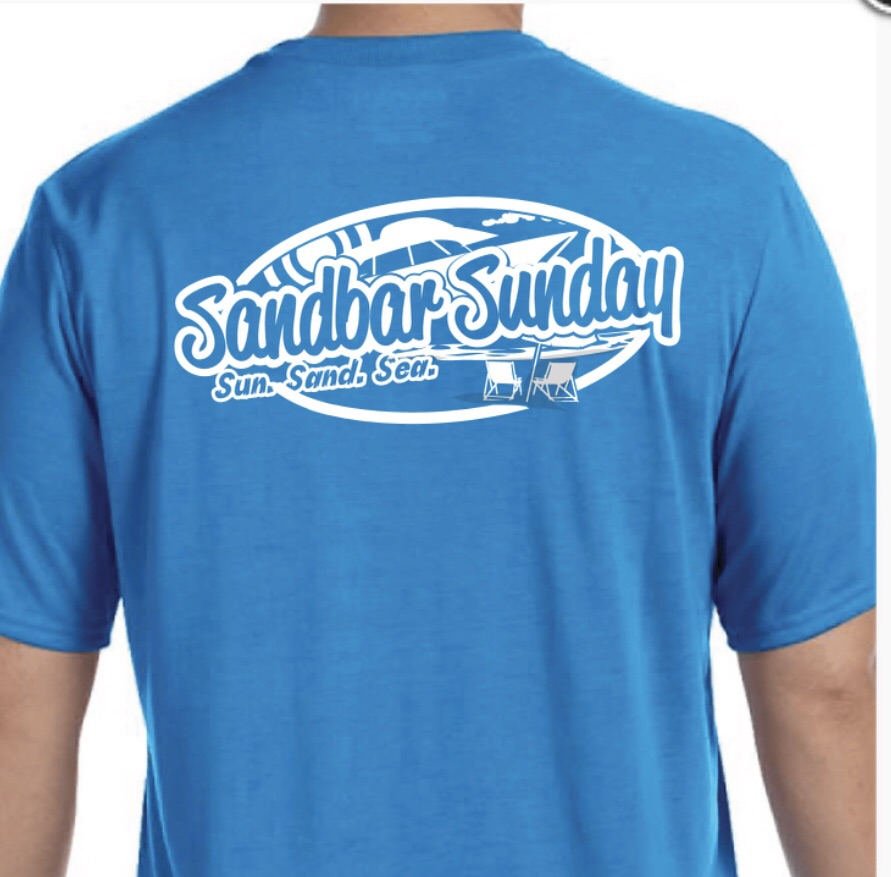 Sandbar Sunday Men's Short Sleeve Performance Tee in Sapphire