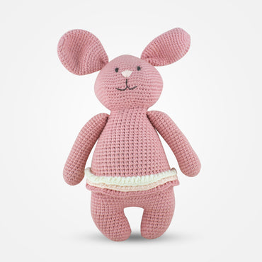 Dina - Handmade Crochet Soft Toy - Blush