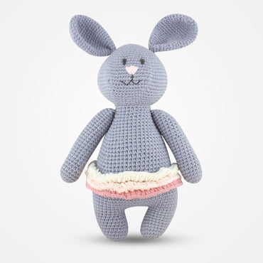 Dina - Handmade Crochet Soft Toy - Grey