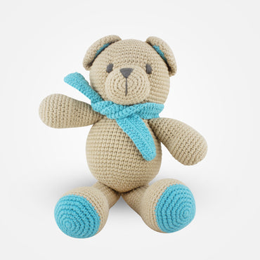 Ted - Handmade Crochet Soft Toy - Beige
