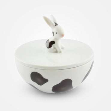 Cow Bunny Porcelain Box by Goebel