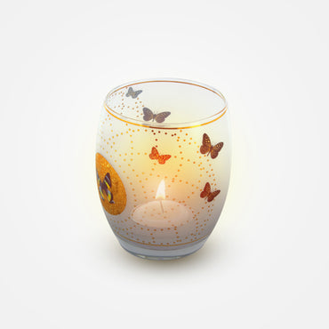 Butterflies White Tealight Glass - Goebel