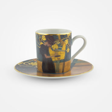 2 Coffee Cups with Saucers – 'The Music – Demitasse 7 cm' Gustav Klimt