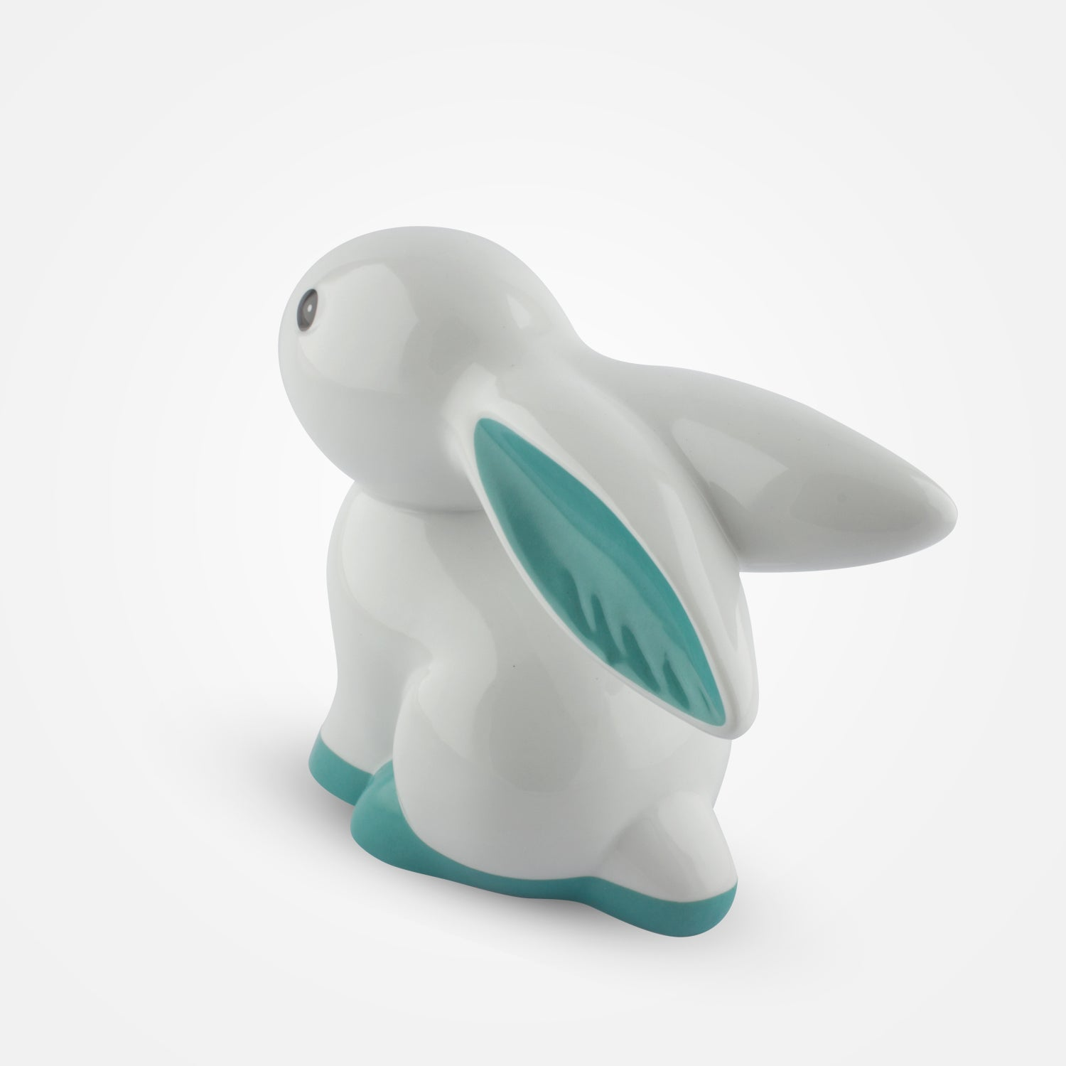 Turquoise Cute Bunny Home Decor - Goebel