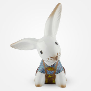 Bavarian Bunny de Luxe home decor by Goebel wearing leather pants and typical accessories