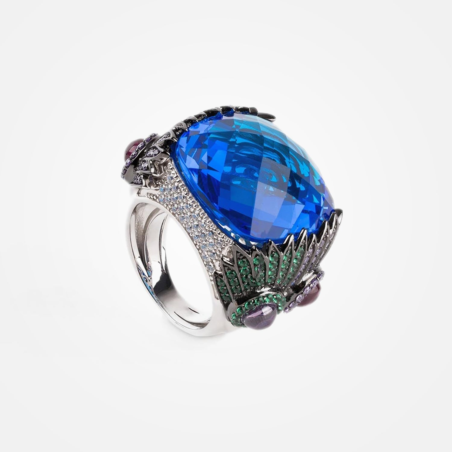 Rhodium Plated 925 Silver Sultan Ring by Daniel Espinosa